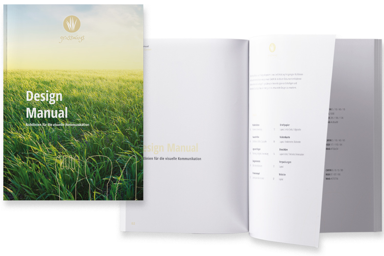 Projekt Corporate Design grassways Designmanual